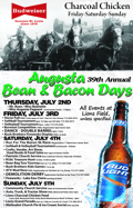 Bean and Bacon Days 2016