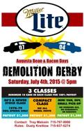 Bean and Bacon Days 2016 Augusta Wisconsin Demolition Derby