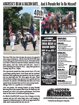 Hidden Treasures Visitors Guide for Bean and Bacon Days