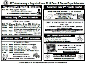 Bean and Bacon Days 2016 Community Mailer