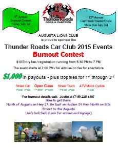 Bean and Bacon Days 2016 Burnout Competion