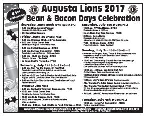 Bean and Bacon Days Community Mailer page 1