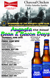 Bean and Bacon Days poster