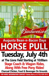 Bean and Bacon Days Horse Pulling Contest
