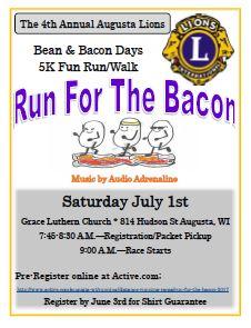 Bean and Bacon Days Run for the Bacon