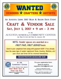 Bean and Bacon Days Craft Registration