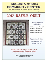 Bean and Bacon Days Quilt Raffle