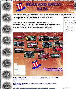 Augusta Wisconsin Car Show on the Bean and Bacon Days Site