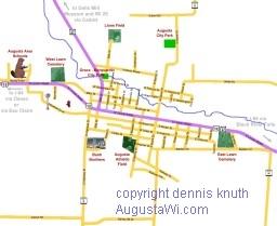 Augusta Wisconsin Street Map