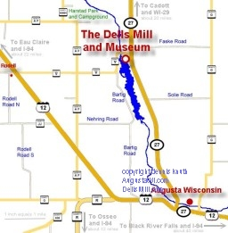 Wisconsin Dells Mill Local Map