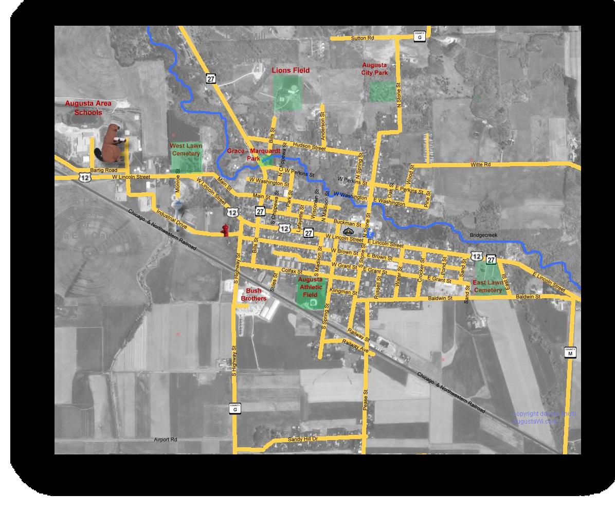 Satellite Map Of Augusta Wisconsin - Printable satellite maps