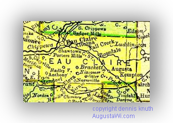 Eau Claire County Township in 1895