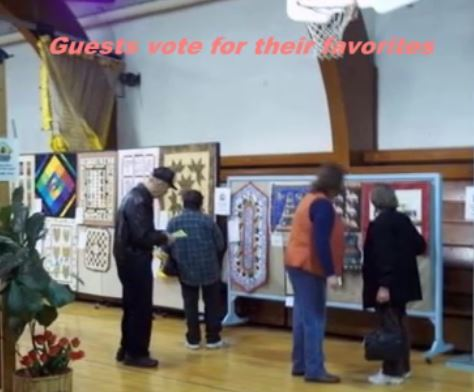 Guests Vote at the Augusta Quilt Show Video
